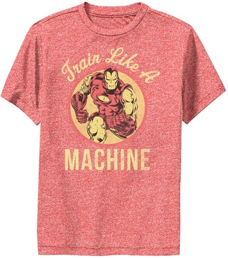 Iron Man Licensed Character Boys 8-20 Marvel Train Like a Machine Performance Tee