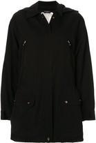 Chanel Pre Owned 1980s hooded zipped coat
