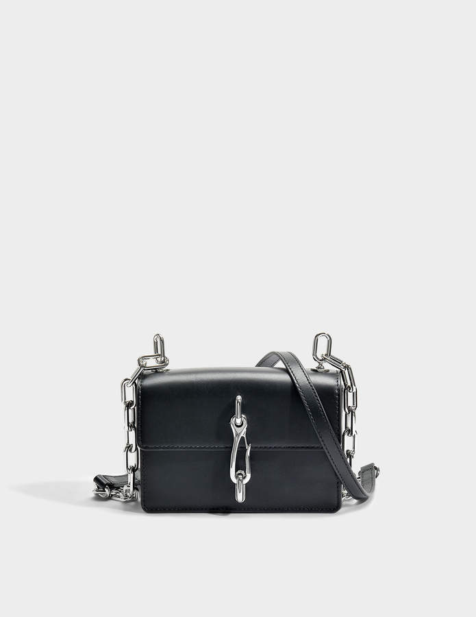 Alexander Wang Hook Small Crossbody Bag in Black Calfskin