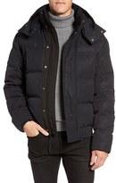 Andrew Marc Men's 'Summit' Embossed Down Jacket With Detachable Hood