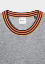 Paul Smith Women's Grey Wool Sweater With 'Artist Stripe' Collar