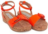 Stella McCartney Neon Orange Linda Sandals