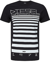 Diesel T-diego-od 'for Successful Living' T-shirt, Black