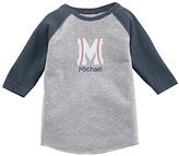 Princess Linens Heather Gray & Navy Personalized Raglan Tee - Toddler & Boys