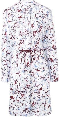 Cédric Charlier Floral Print Shirt Dress