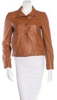 Frame Single-Breasted Leather Jacket