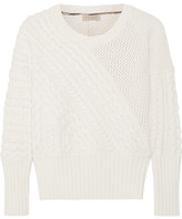 cream cable knit sweater - ShopStyle