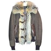 Gucci Brown Fur Biker jacket