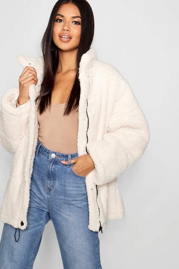 Oversized Fleece Puffer Jacket