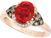 LeVian Le Vian Chocolatier 14K Rose Gold 1.23 Ct. Tw. White & Brown Diamond & Fire Opal Ring