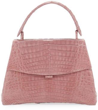Nancy Gonzalez Curved-Bottom Small Crocodile Top-Handle Bag