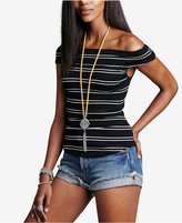 Free People Yacht Club Striped Off-The-Shoulder Top