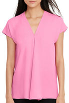 Lauren Ralph Lauren Georgette Short-Sleeve Top