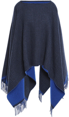 Rag & Bone Reversible Checked Wool-blend Felt Poncho
