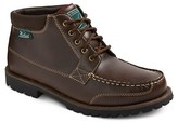 Woolrich Men's Trevor Wool Collar Moc Toe Boots - Dark Brown