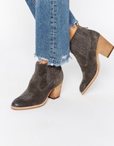 Dolce Vita Jones Suede Stack Heeled Ankle Boots