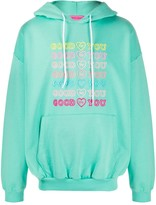 Goodforyou embroidered cotton hoodie