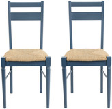 Heal's Pinner Pair of Dining Chairs - Atlantic Blue