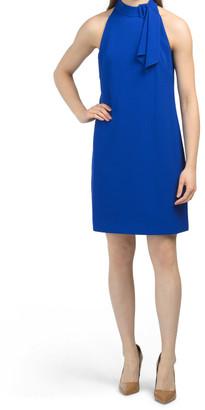 Signature Stretch Crepe Halter Dress