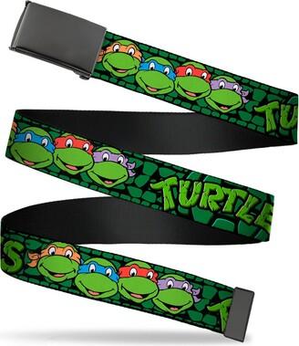 """Buckle Down Buckle-Down Men's Buckle-Down Web Belt Ninja Turtles 1.25"""""""