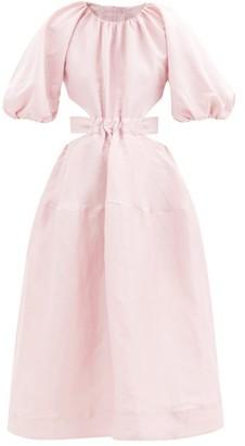 Aje Mimosa Open-back Linen-blend Dress - Light Pink