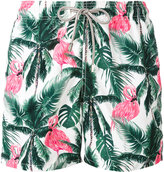 MC2 Saint Barth flamingos print swim shorts - men - Polyamide/Polyester/Spandex/Elastane - S