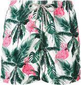 MC2 Saint Barth flamingos print swim shorts - men - Polyester/Polyamide/Spandex/Elastane - M