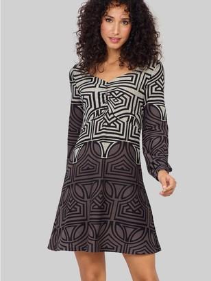 M&Co Izabel geo print tunic dress