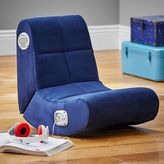 Suede Mini Rocker Speaker Chair, Navy