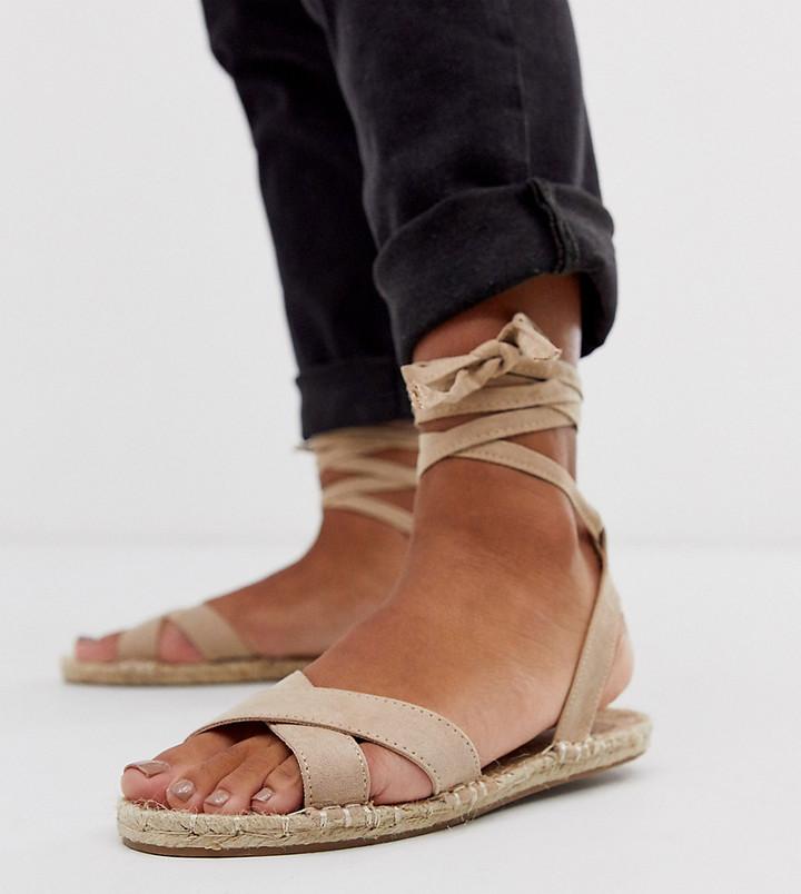ASOS DESIGN Jala espadrille flat sandals in beige