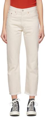 Levi's Levis Off-White 501 Original Cropped Jeans