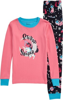 Hatley Enchanted Space Fitted Organic Cotton Two-Piece Pajamas