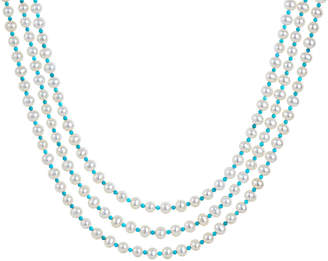 Lagos Caviar Icon 3-Strand Necklace, Pearl/Turquoise