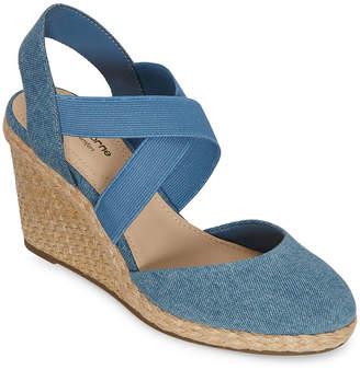 Liz Claiborne Womens Wisteria Wedge Sandals