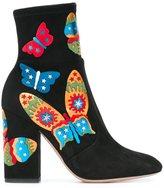 Valentino Garavani Valentino butterfly appliquéd ankle boots