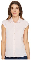 U.S. Polo Assn. Short Sleeve Seersucker Blouse