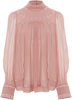 Isabel Marant Maeva Mock Neck Blouse