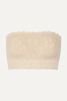 Hanky Panky Signature Stretch-lace Soft-cup Bandeau Bra - Neutral