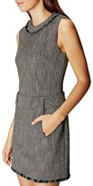 Karen Millen Fringe-Trim Tweed Dress
