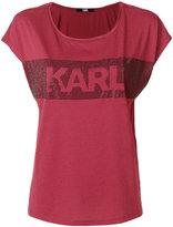 Karl Lagerfeld embellished logo T-shirt