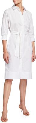Cotton Poplin Cocoon Shirtdress