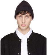 Saturdays NYC Navy and Brown Waffle Knit Beanie