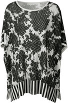Victor Alfaro - roses print knitted tunic - women - Silk/Cashmere - S