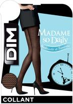 Dim Madame So Daily Tulle Geometrique Pantyhose