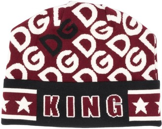 Dolce & Gabbana King print beanie