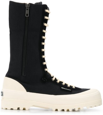 Superga x Paura ridged sole combat boots