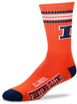For Bare Feet Men's Illinois Fighting Illini Deuce Striped Crew Socks