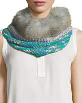 Missoni Knit Neck Warmer w/ Fur Trim