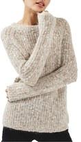Topshop Women's Crewneck Longline Sweater