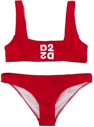 DSQUARED2 mirrored D2 bikini set